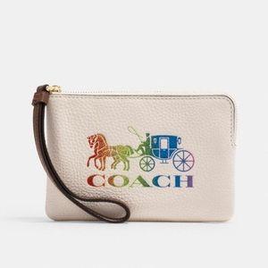 Coach Pride Limited Edition Corner Zip Wristlet